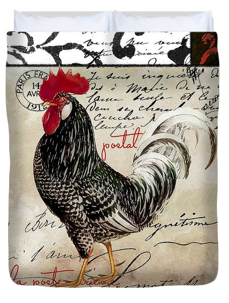 Europa Rooster IIi Duvet Cover by Mindy Sommers