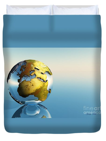 Europe And Africa Duvet Cover by Corey Ford