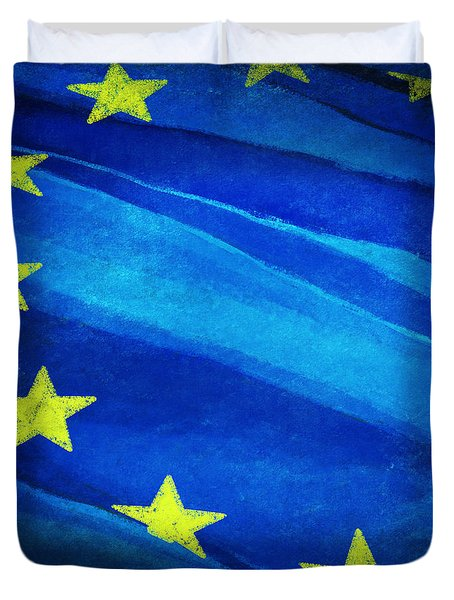 European Flag Duvet Cover by Setsiri Silapasuwanchai