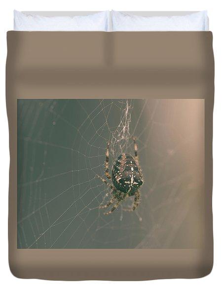 European Garden Spider B Duvet Cover