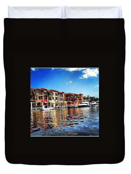 Kayaking At Naples Bay Resort Duvet Cover