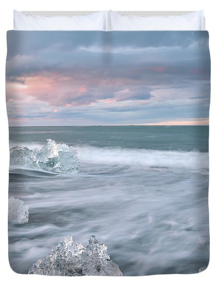 Duvet Cover featuring the photograph Evanescence Of Jokulsarlon  by Dustin  LeFevre
