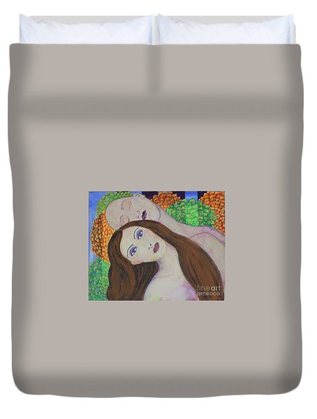 Eve Emerges Duvet Cover by Kim Nelson