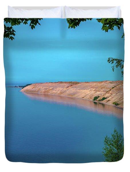 Eveing Light On Grand Sable Banks Duvet Cover