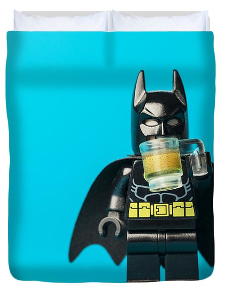 Even Batman Needs A Beer Duvet Cover