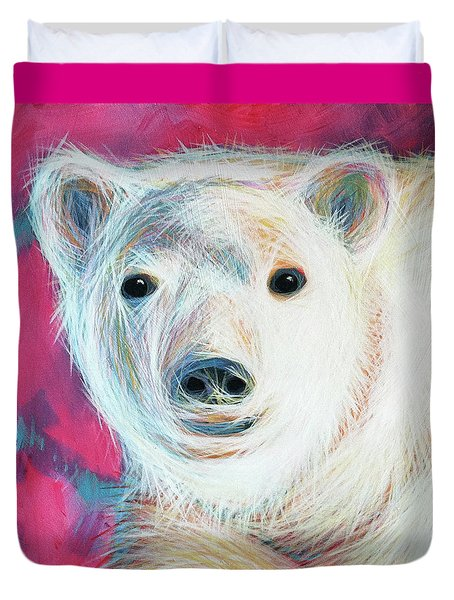 Even Polar Bears Love Pink Duvet Cover