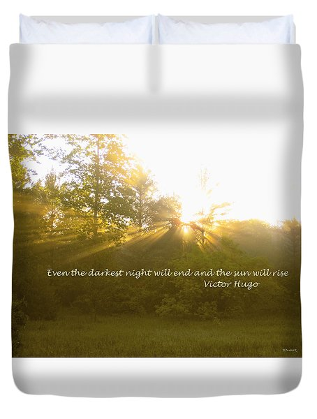 Even The Darkest Night Will End Duvet Cover
