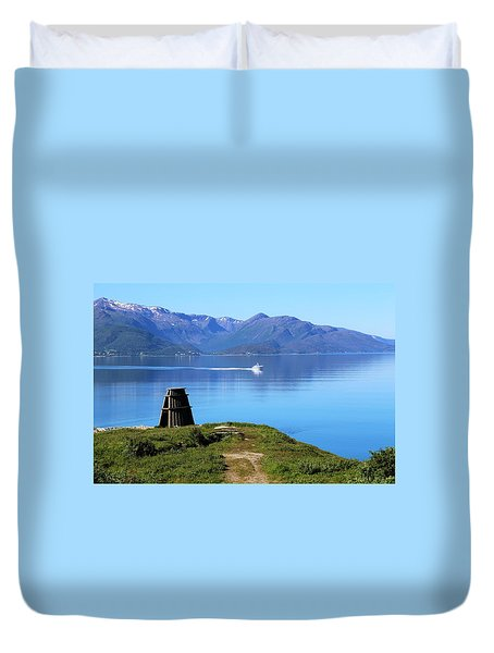 Evenes, Fjord In The North Of Norway Duvet Cover