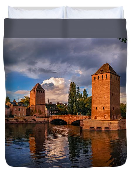 Duvet Cover featuring the photograph Evening After The Rain On The Ponts Couverts by Dmytro Korol