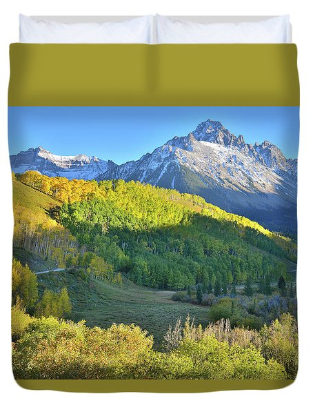 Duvet Cover featuring the photograph Evening Along County Road 7 by Ray Mathis