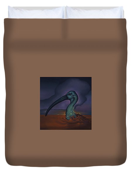 Evening And The Hiss Of Sadness Duvet Cover by Andrew Batcheller