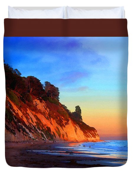 Evening At Arroyo Burro Duvet Cover