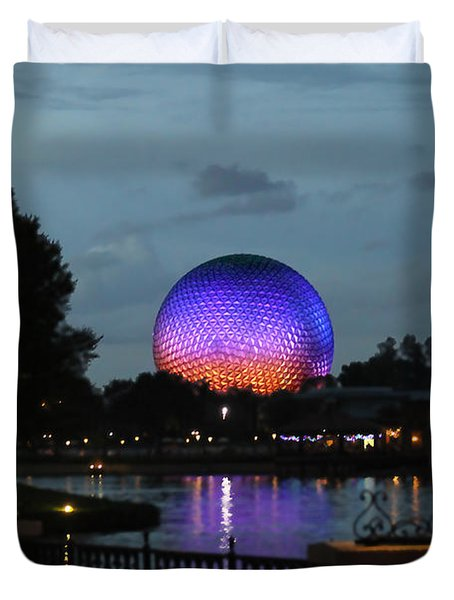 Evening At Epcot Duvet Cover