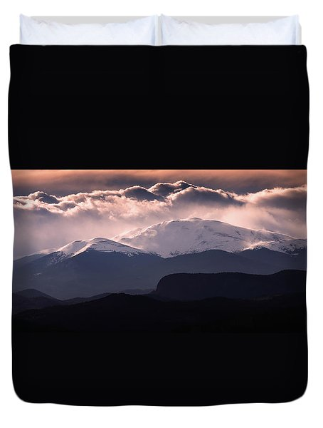 Evening At Evans Duvet Cover