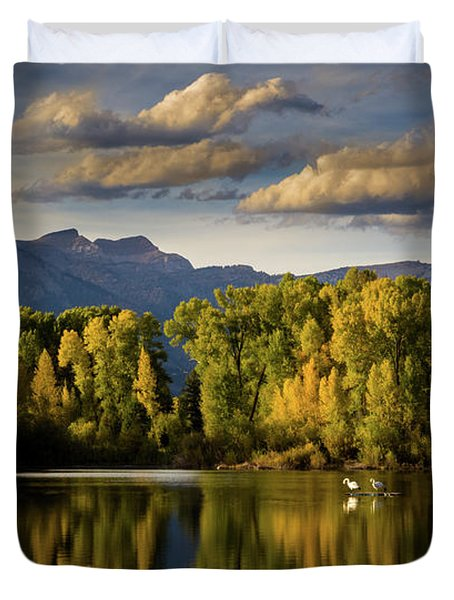 Evening At Indian Springs Duvet Cover