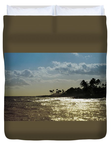 Evening At Poipiu Kauai Duvet Cover