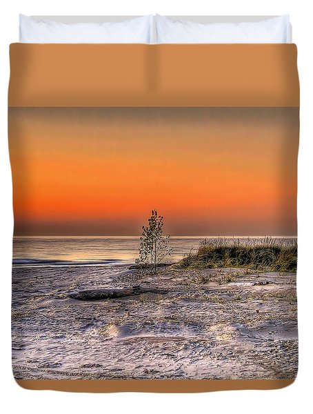Evening Beach Glow  Duvet Cover