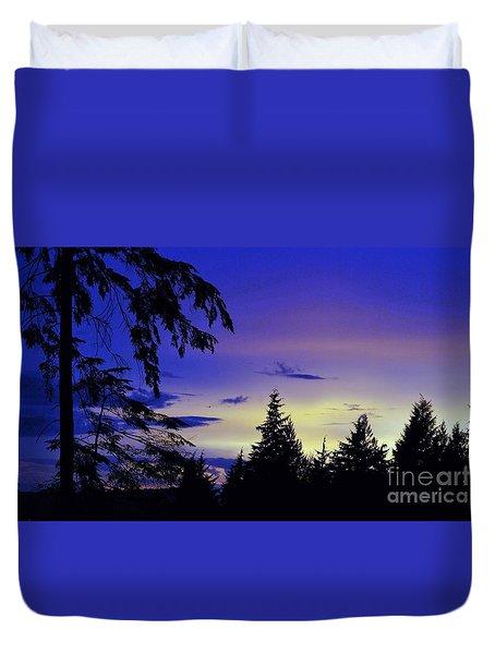 Evening Blue Duvet Cover