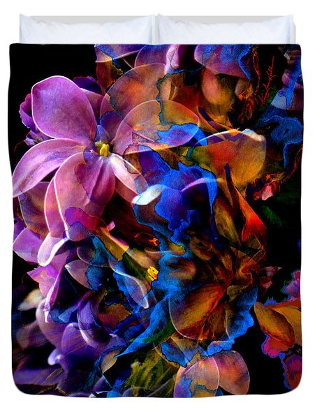 Duvet Cover featuring the painting Evening Bouquet by Hanne Lore Koehler