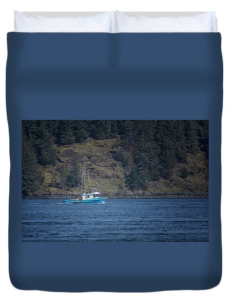 Evening Breeze Duvet Cover by Randy Hall