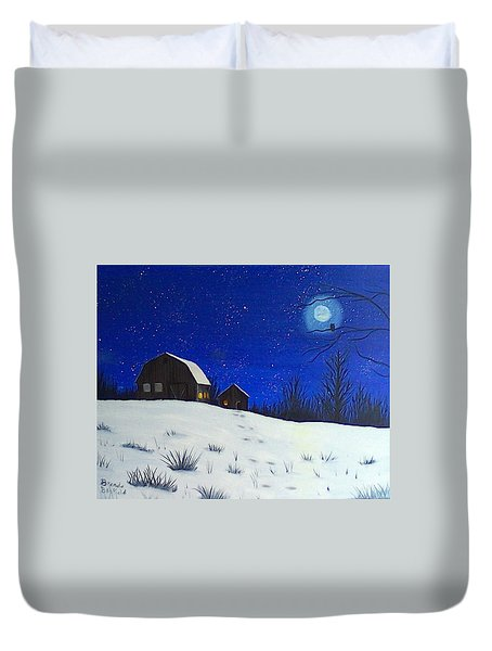 Evening Chores Duvet Cover