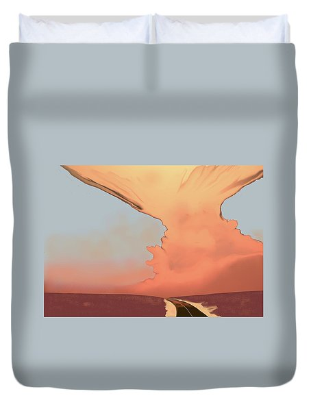 Evening Clouds Duvet Cover