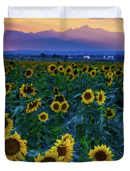 Evening Colors Of Summer Duvet Cover