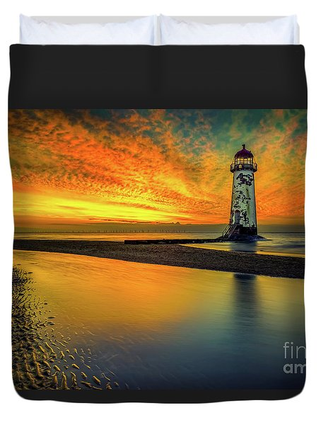 Duvet Cover featuring the photograph Evening Delight by Adrian Evans