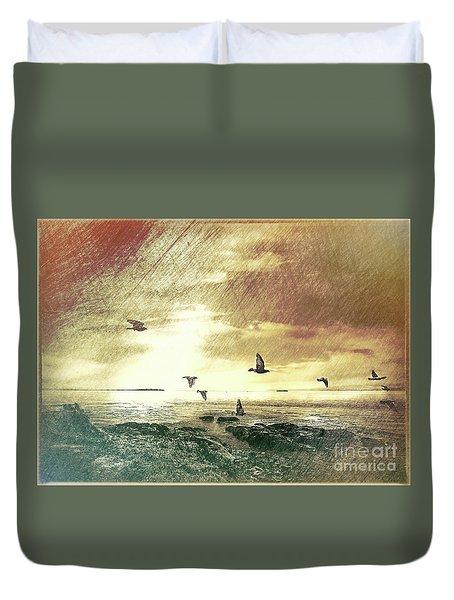 Evening Flight Duvet Cover
