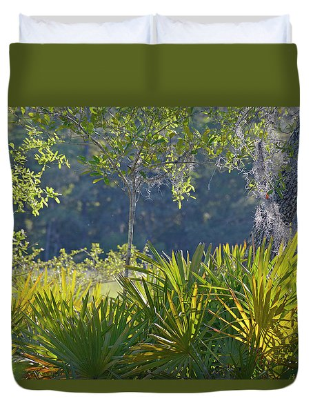 Duvet Cover featuring the photograph Evening Foliage by Bruce Gourley