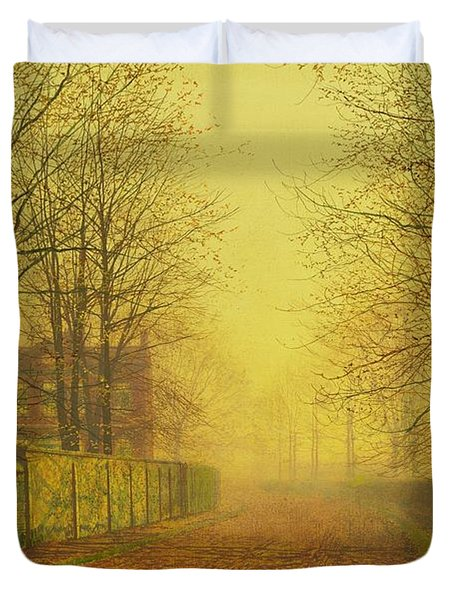 Evening Glow Duvet Cover by John Atkinson Grimshaw