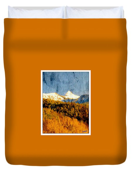 Evening Glow On Storm Peak Duvet Cover by Anastasia Savage Ealy