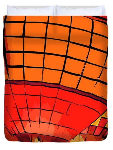 Evening Glow Red And Yellow In Abstract Duvet Cover