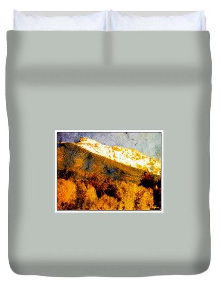 Evening Glow Truchas Peak Duvet Cover by Anastasia Savage Ealy