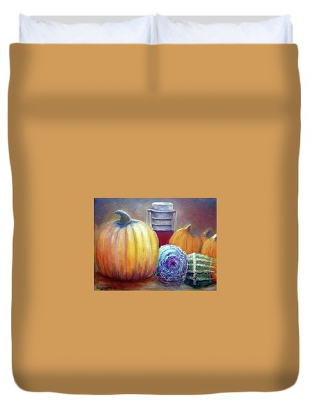Evening Harvest Duvet Cover by Bernadette Krupa