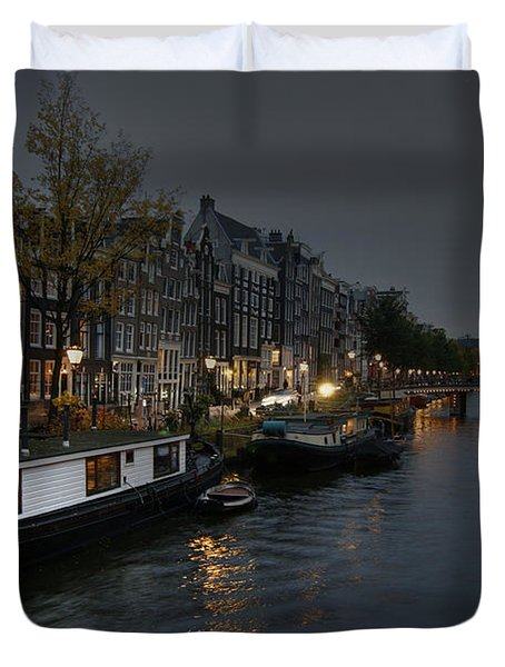 Evening In Amsterdam Duvet Cover