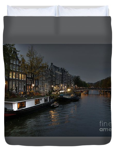 Evening In Amsterdam Duvet Cover