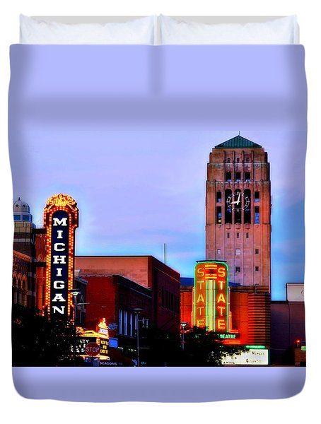 Evening In Ann Arbor Duvet Cover by Pat Cook