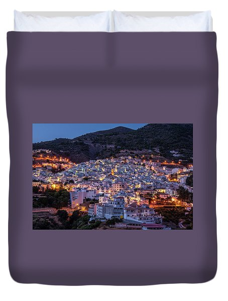 Evening In Competa Duvet Cover