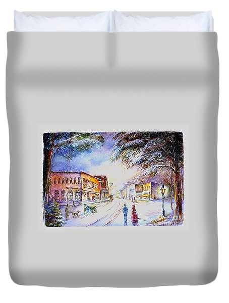 Evening In Dunnville Duvet Cover