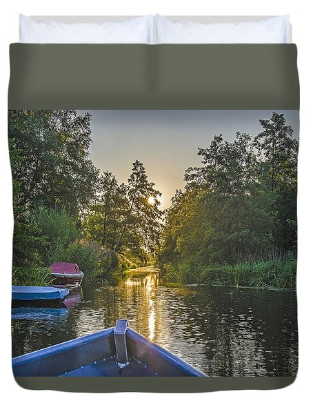 Evening In Loosdrecht Duvet Cover