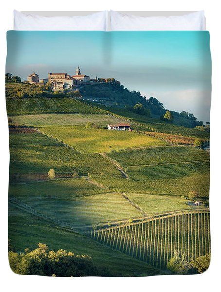 Duvet Cover featuring the photograph Evening In Piemonte by Brian Jannsen