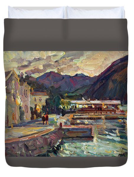 Evening In Prcanj Duvet Cover