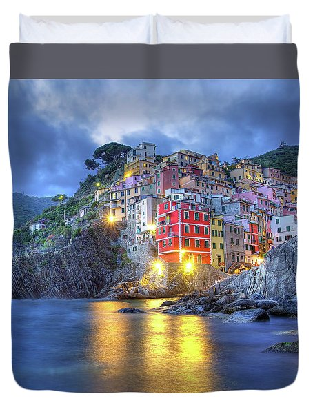 Evening In Riomaggiore Duvet Cover