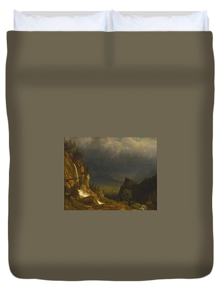 Evening In The Mountains Duvet Cover