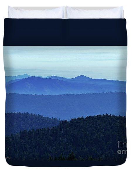 Oregon Blues  Duvet Cover