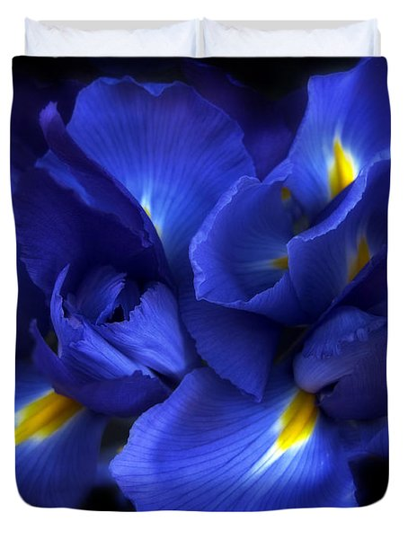 Evening Iris Duvet Cover by Jessica Jenney