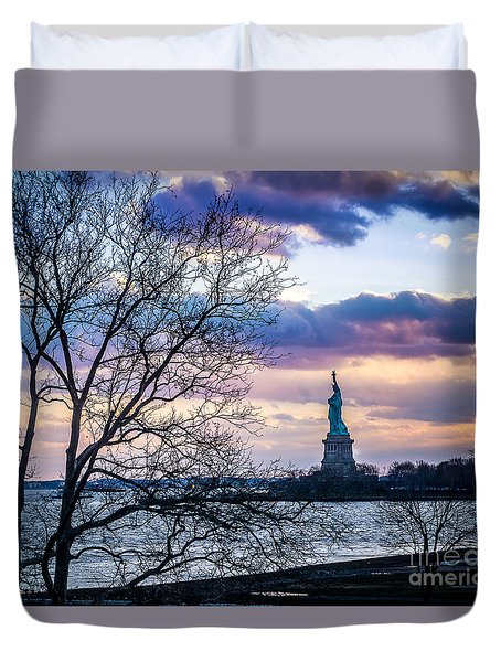 Evening Liberty Duvet Cover