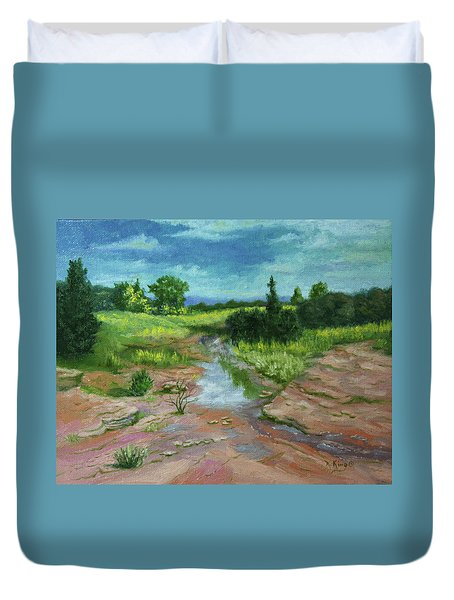Evening Light Duvet Cover by Roena King
