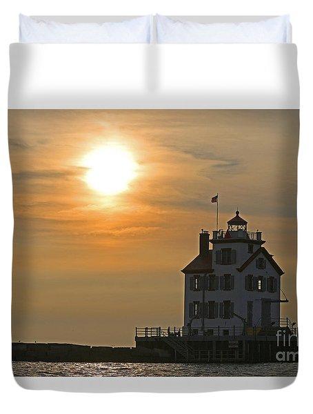 Evening Lighthouse 1 Duvet Cover